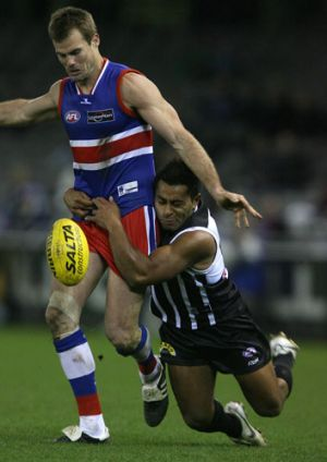 Luke Darcy in his heyday as an AFL star