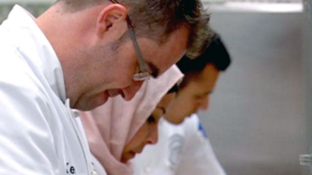 When three heads are better than what they're looking at ... <i>MasterChef</i>