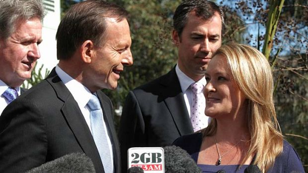 Fiona Scott with Opposition Leader Tony Abbott.