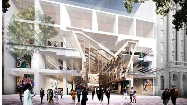 At artist's impression of the proposed development at the old Broadway on the Mall site.
