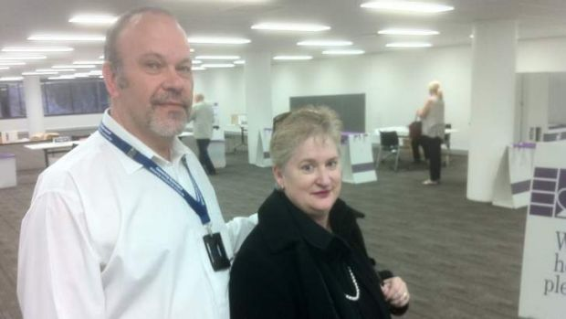 Christine and Rolf Winkler were among the first people to vote in the 2013 federal election.