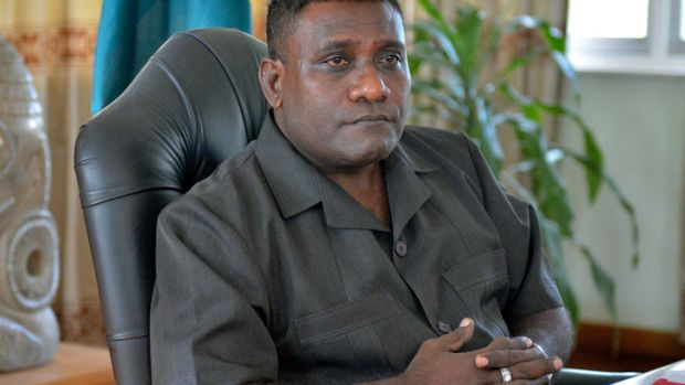 Solomon Islands Prime Minister Gordon Darcy Lilo.