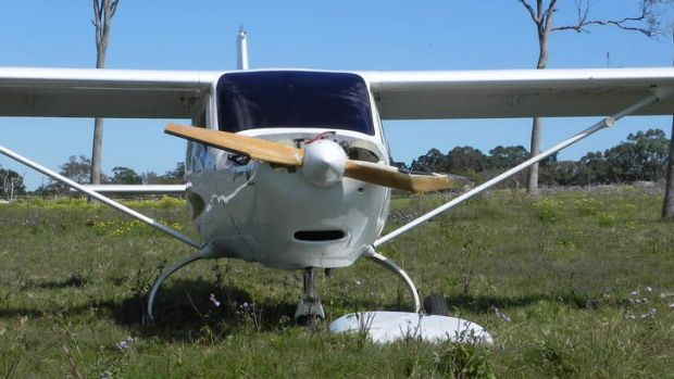 Damage to a propellor in a plane that crash landed in Victoria Point.