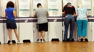 20th October 2012 , News, Canberra Times, ACT ELECTIONS 2012, Story by Ewa Kretowicz. Generic voting pic- Voters at the ...