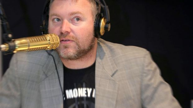 Seen as vulnerable: Kyle Sandilands and the 2Day FM team.