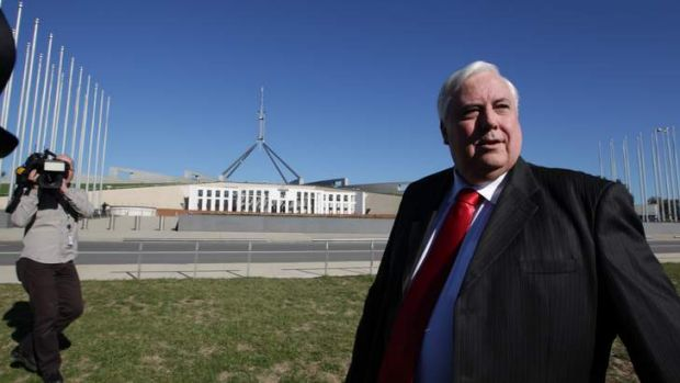 Clive Palmer may benefit from Greens' preferences in his bid for a seat in Canberra.
