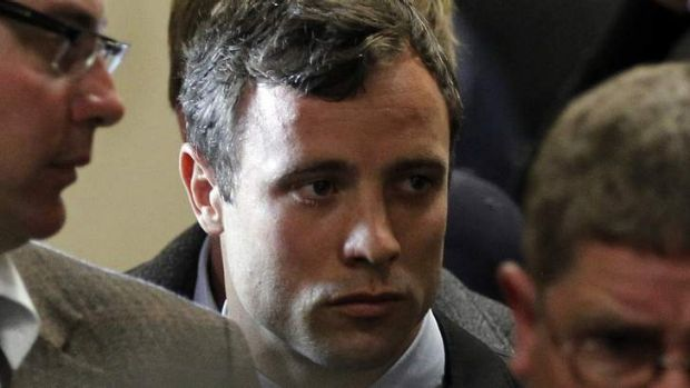 Potential deal: Running star Oscar Pistorius leaves after his court appearance on Monday.