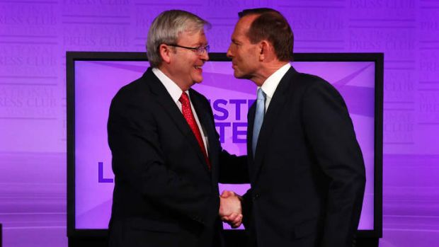 No limits: Wednesday's debate between Kevin Rudd and Tony Abbott is set to be a cracker.