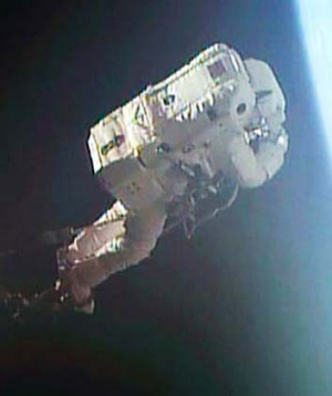 Calm before the storm: Luca Parmitano pictured on a July 9 spacewalk. His July 16 spacewalk ended with him fearing he ...