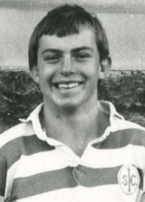 Tony Abbott in 1975, his final year at St Ignatius College, Riverview - he played in the school's 2nd XV rugby team.