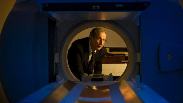 Professor Ross Stephens with the new CT Spect Camera at the ANU.
