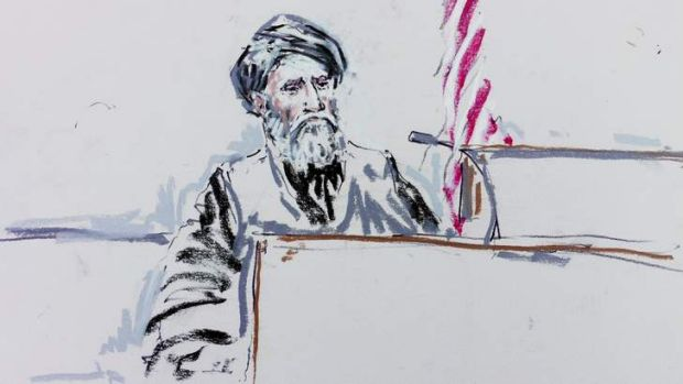 Face to face: Haji Mohammed Naeem testifies during a pre-sentencing hearing for Army Staff Sergeant Robert Bales in ...