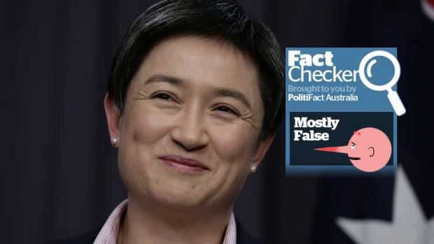 Penny Wong's claims about Tony Abbott's cuts are rated mostly false