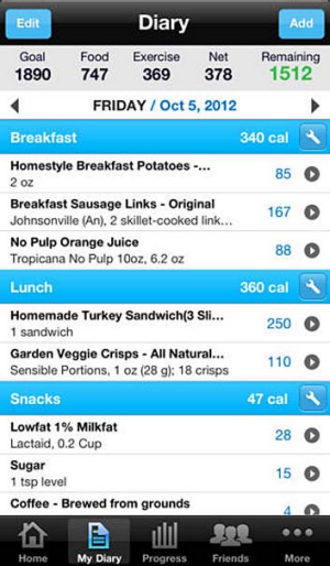 Carlorie Counter & Diet Tracker by MyFitnessPal for iPhone.