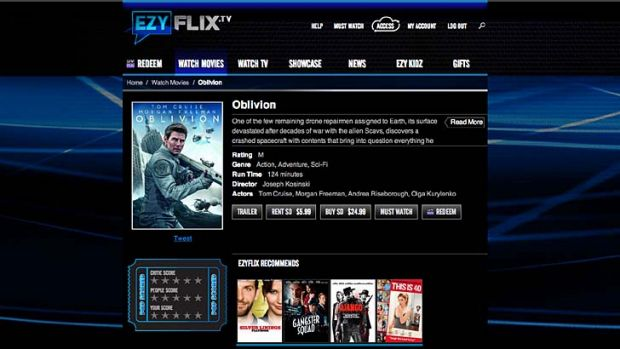 Newcomer EzyFlix offers rentals from $2.99.