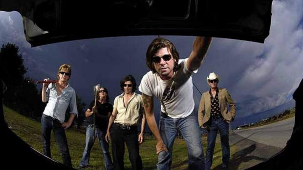 Thrice as nice: A boot full of surprises awaits fans of Tex Perkins (front) and the Beasts of Bourbon.