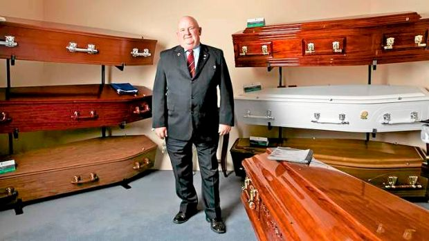 Grave concerns: Master funeral director Warwick Hansen, the regional manager of Hansen & Cole Funerals.