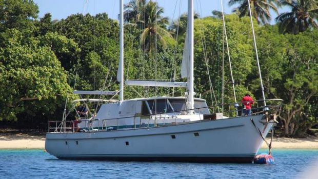 The yacht raided in a Vanuatu port which had about 750 kilograms of cocaine onboard.