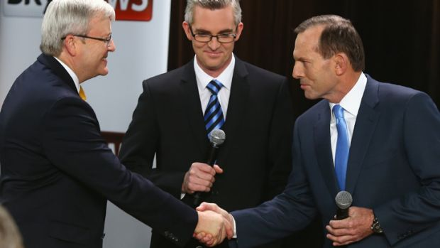 Kevin Rudd and Tony Abbott face off at the leaders' forum as Australians get ready to cast their ballots.