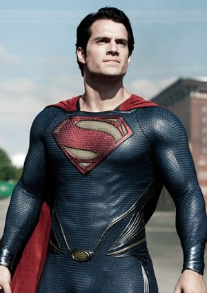 Henry Cavill as Superman in Zack Snyder's <i>Man of Steel</i>.