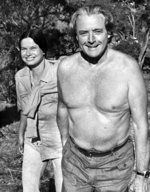 A more carefree Jim Cairns, deputy prime minister at the time, is pictured with Junie Morosi in 1975.