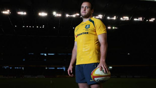The optimist: Wallabies tight-head prop Ben Alexander will run out for his 53rd Test on Saturday night at Westpac ...