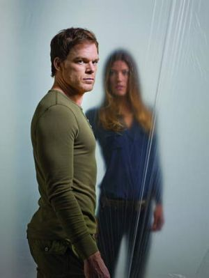 Michael C. Hall and Jennifer Carpenter as Dexter and Deb Morgan in <i>Dexter</i>.