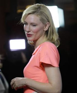 Cate Blanchett at the premiere of <i>Blue Jasmine</i>.