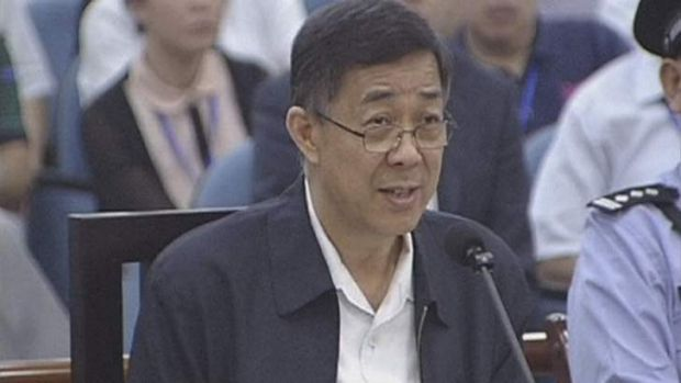 Embattled Chinese politician Bo Xilai testifies in court on the third day of his trial in Jinan, Shandong Province.