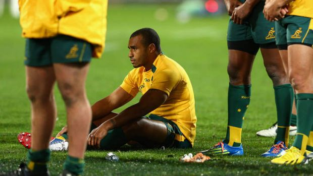 Targeted: The New Zealanders harassed Australian halfback Will Genia so successfully they nearly scored two more tries.