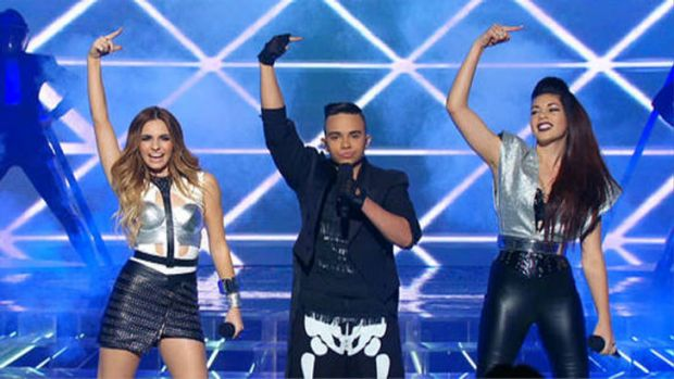 THIRD D3GREE perform on <i>The X Factor</i> first live show