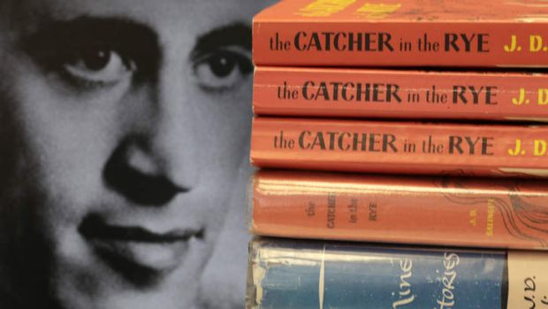 Copies of JD Salinger's classic novel <i>The Catcher in the Rye</i> as well as his volume of short stories called ...