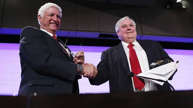 Clive Palmer's PUP received $2.2 million from the Australian Electoral Commission, while rival Bob Katter's Australian ...