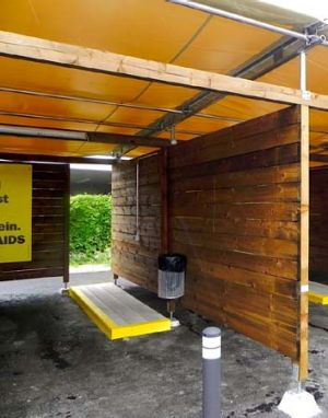 'Sex-boxes': Designed to improve safety and sanitation.