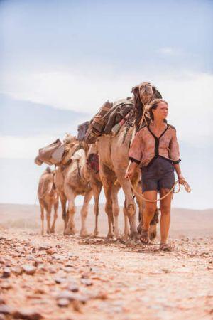 Mia Wasikowska plays writer Robyn Davidson in the Australian film <i>Tracks</i>.