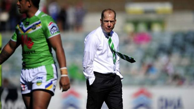 Canberra Raiders interim coach Andrew Dunemann.