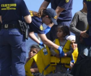 Asylum seekers arriving at Christmas Island are processed.