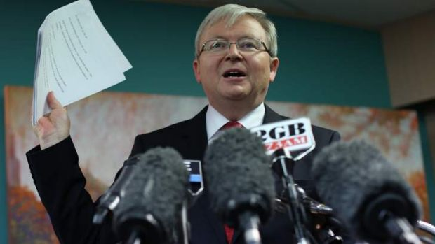 Prime Minister Kevin Rudd has spoken to the US President and British PM about the situation in Syria.