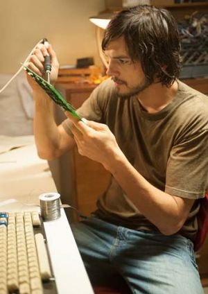 Advancements in technology are underplayed in <i>Jobs</i>.