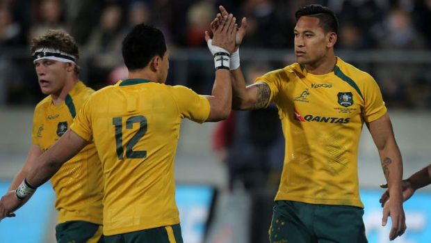 Staying put: Israel Folau is due to re-sign with rugby ''any day''.