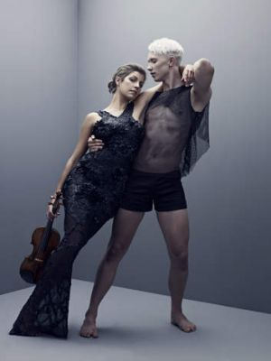 Tuned ... Sydney Dance Company's Thomas Bradley and Australian Chamber Orchestra's Madeleine Boud.