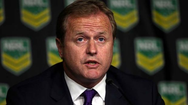 """""""We remain committed to a drug free sport."""": David Smith, CEO of the Australian Rugby League Commission, announces the ..."""
