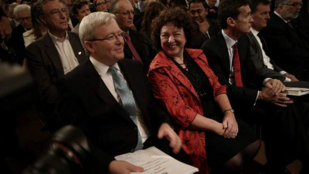First lady Therese Rein has defended not taking Prime Minister Kevin Rudd's surname when they married after questioning ...