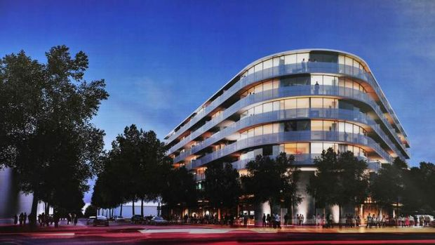 Artist's impression of the planned Raiders building in Braddon.
