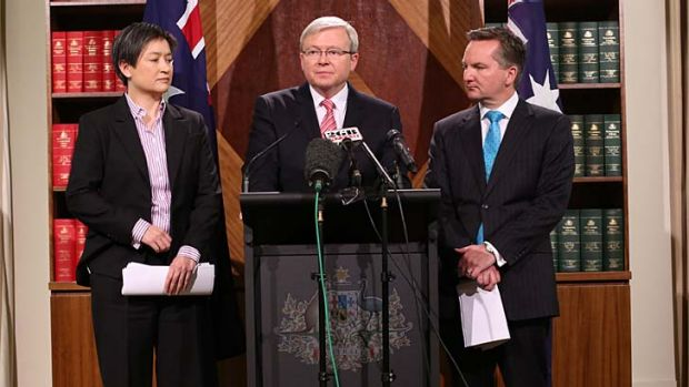 """There is an error of $10 billion in the claimed $30 billion of savings the opposition released yesterday"": Kevin Rudd."