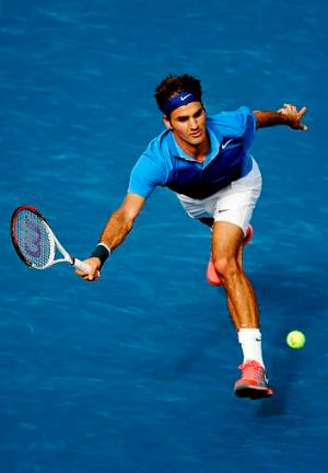 Comfortable: Roger Federer is through to the third round.