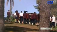 Students at Mount Maria College in Mitchelton following an alleged stabbing