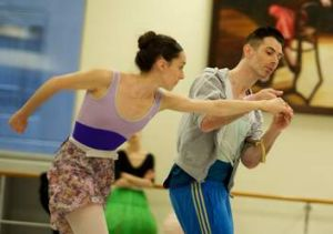 Dancers Amy Harris and Ben Davis at work.
