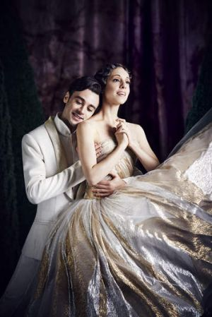 Leanne Stojmenov and Daniel Gaudiello as the Prince and Cinderella.