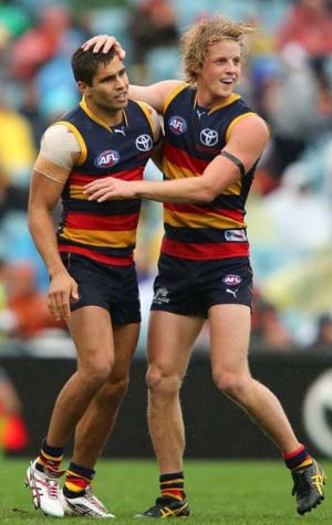 The Crows have genuine fire-power through their midfield in the likes of Rory Sloane (right).